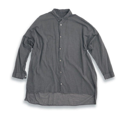 Airy Throwover Wide Shirt