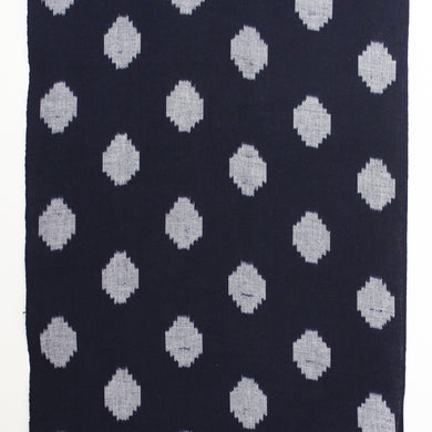 'Kurume Kasuri' ikat fabric / big dots navy