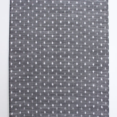 'Kurume Kasuri' ikat fabric / small dots gray