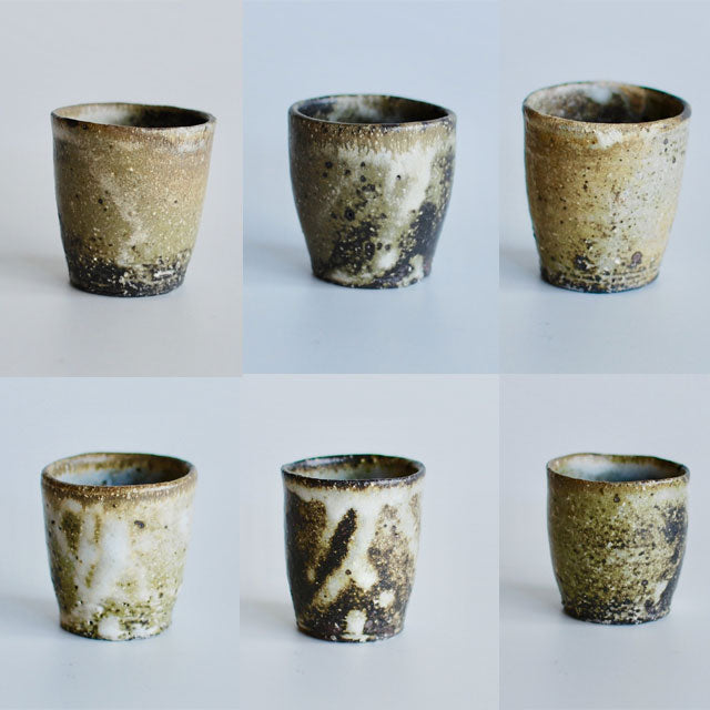 6 sake cups of Teppei Ono