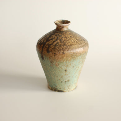 Michikazu Sakai, Flower vase, Wood fired kiln, Utsuwa, Japanese ceramic, Japanese pottery