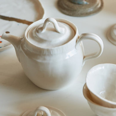 Natsume Set Glazed (Teapot with two teacups)