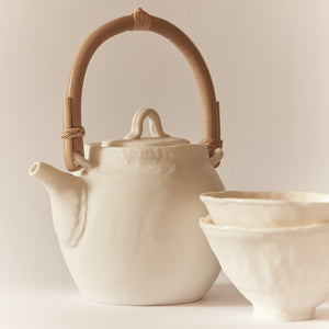 Jyugo Set Mat (Teapot with two teacups)