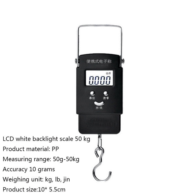 Jetsetter Digital Luggage Scale w/110 lb Capacity