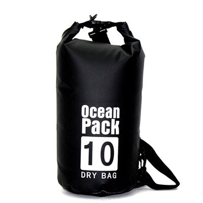 2L/5L/10L/15L/20L Black Waterproof Bag