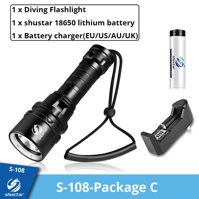 IP68 Waterproof Powerful Diving Flashlight