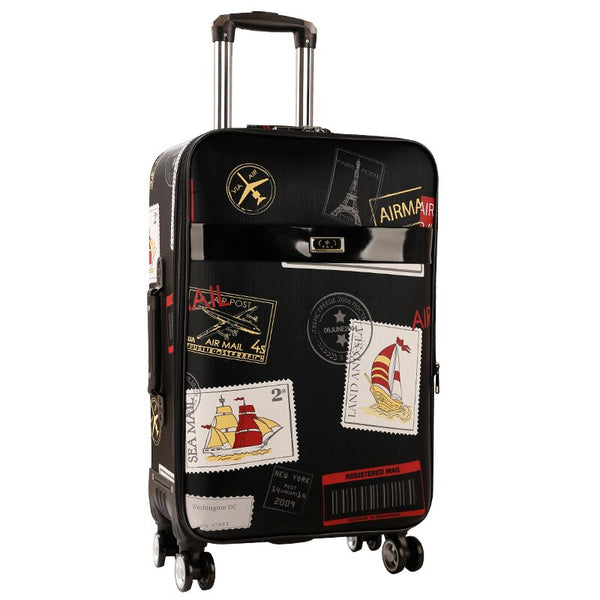 Retro Password Box Rolling Luggage