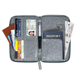 Travel Passport Wallet  Tri-fold Document Organizer