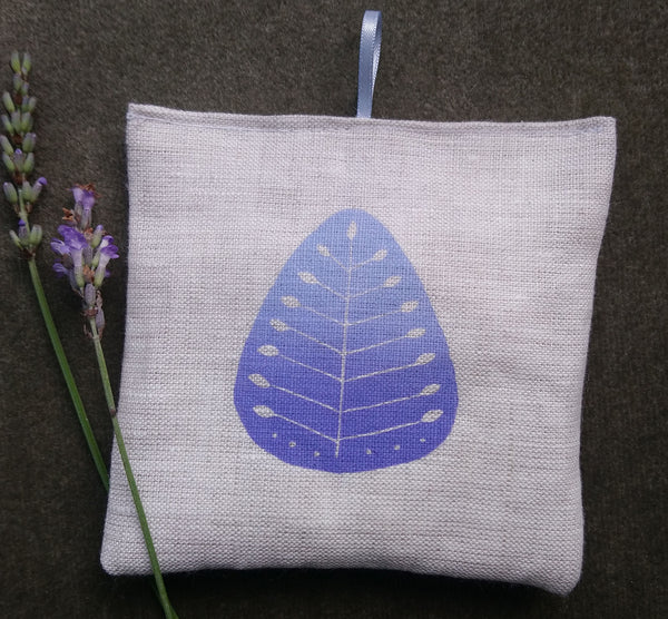 Sweet Dreams - a little hand printed linen bag of lavender and hops