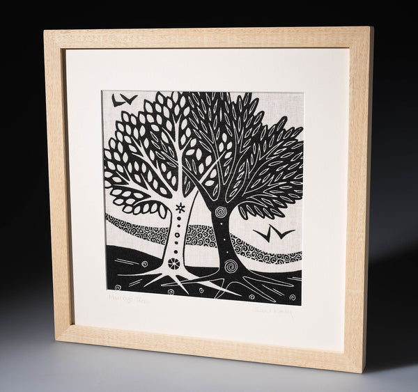 Marriage Trees ~ linen print