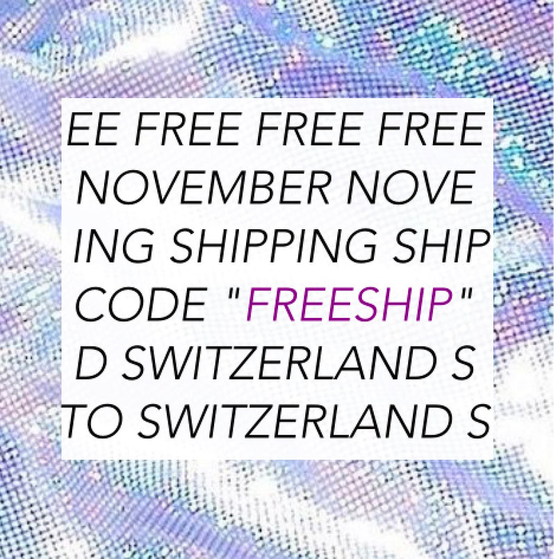 Free Shipping Switzerland for November