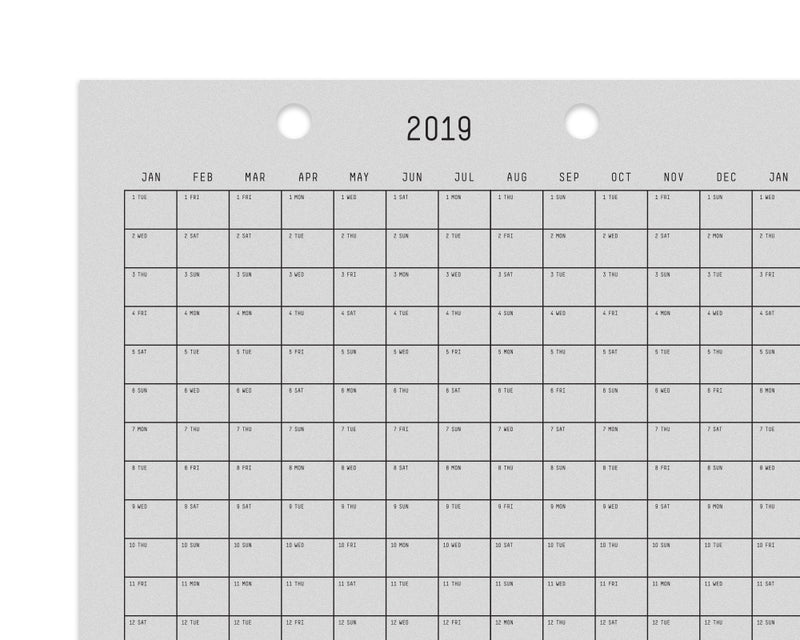3 Year Calendar by Studio E.O