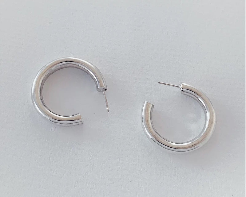 The Big Round Hoop in Silver