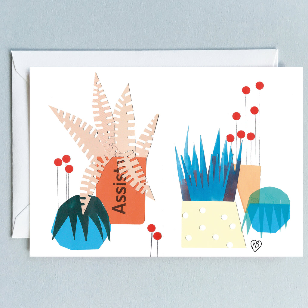 Boho Plants Postcard by Natalie Born