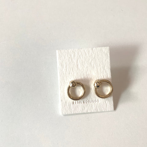 Semi Oval Earrings