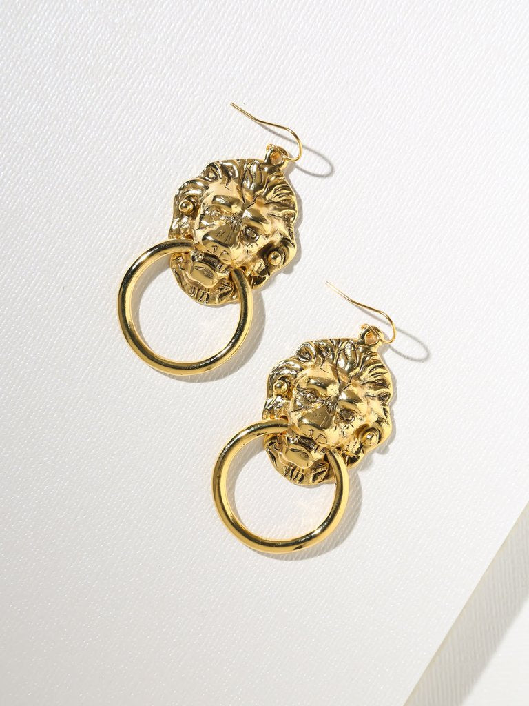 Lion's Head Door Knocker Earrings