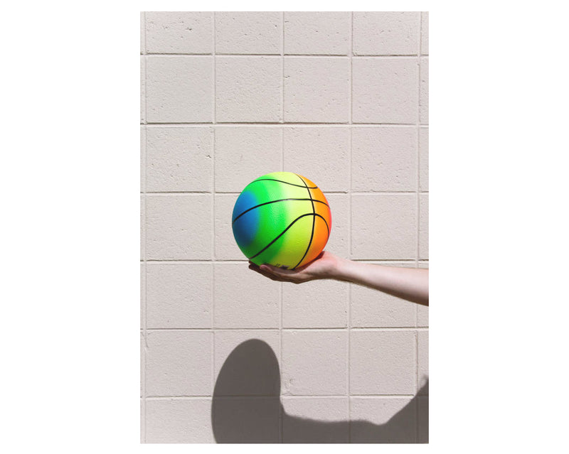 Gradient Basketball Print