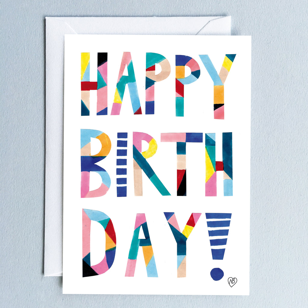 Happy Birthday Postcard by Natalie Born