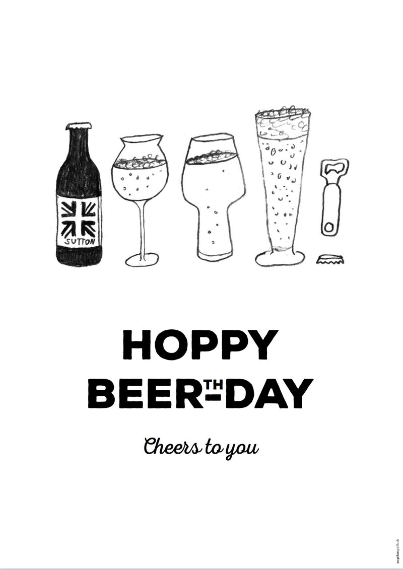 """Hoppy Beerthday"" Postcard"
