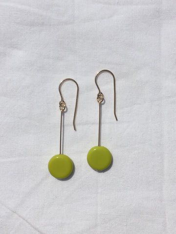 Link Porcelain Earrings in Green