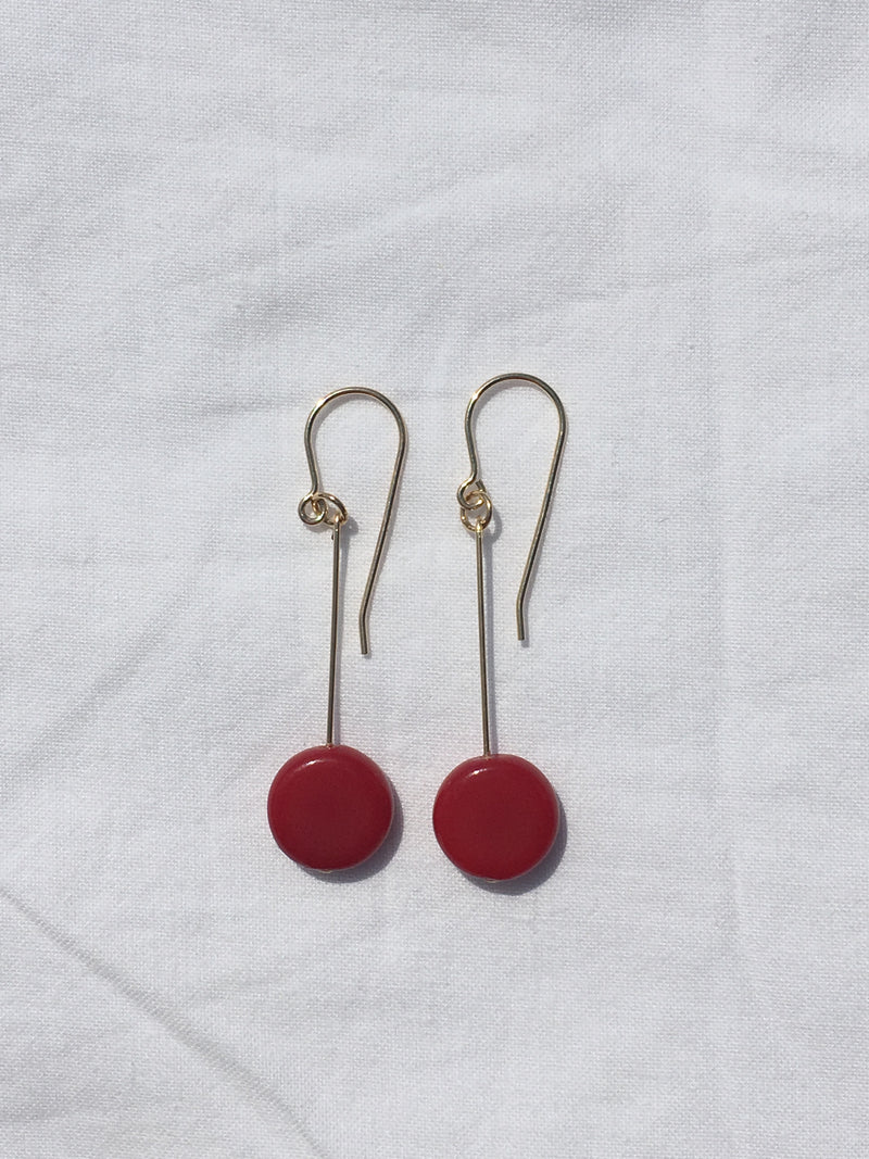 Burgundy Drop Earrings