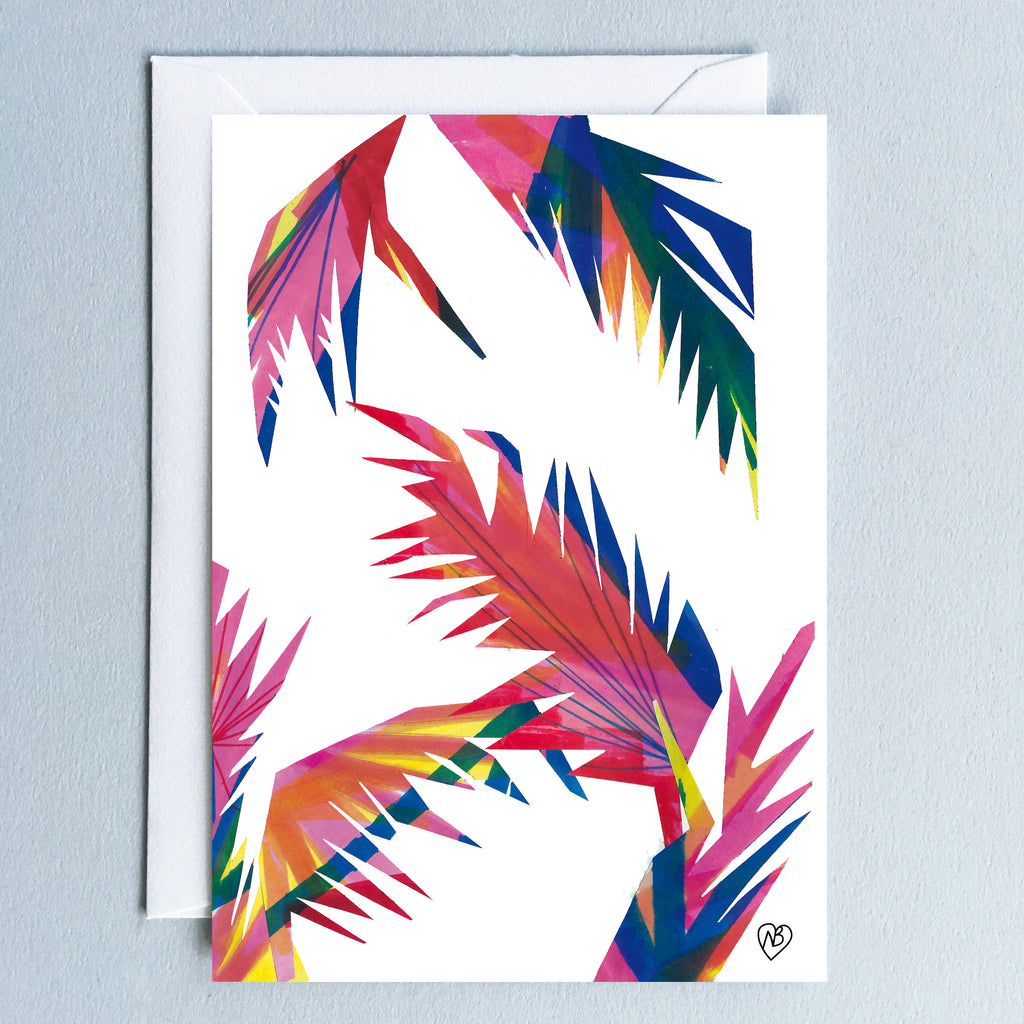 Tropical Disco Postcard by Natalie Born