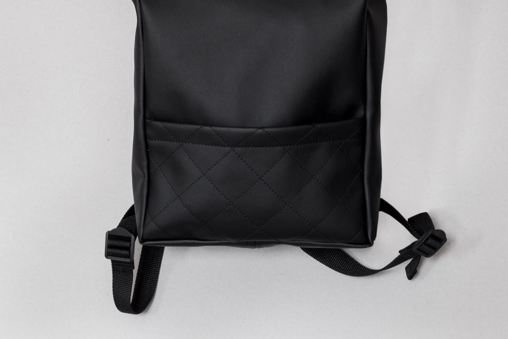 Vegan Leather Backpack (Black)