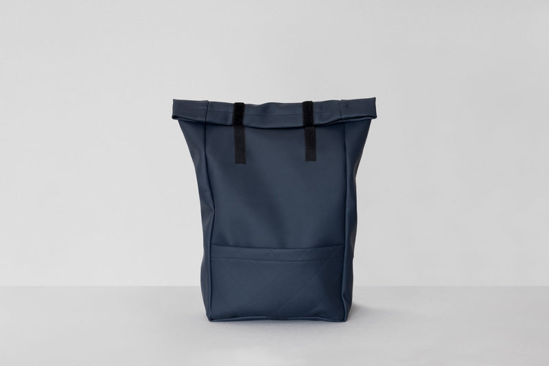 Vegan Leather Backpack (Navy)