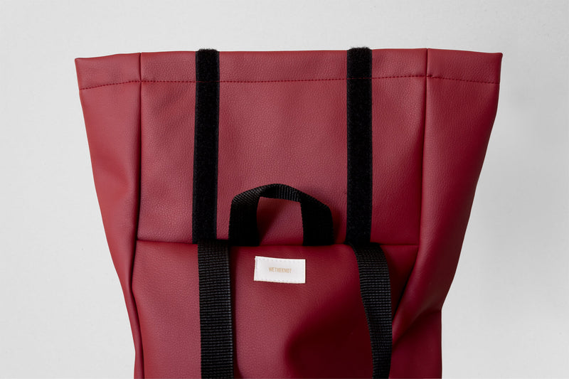 Vegan Leather Backpack (Cherry)
