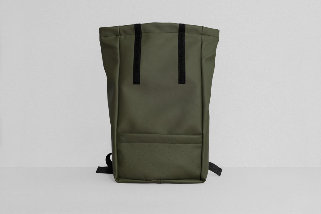 Vegan Leather Backpack (Olive Green)
