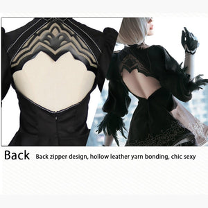 NieR Automata No.2 Type B Girl 2B cosplay  Dress sexy Outfit Anime Games Suit  Women Costume Halloween Party Fancy Dress