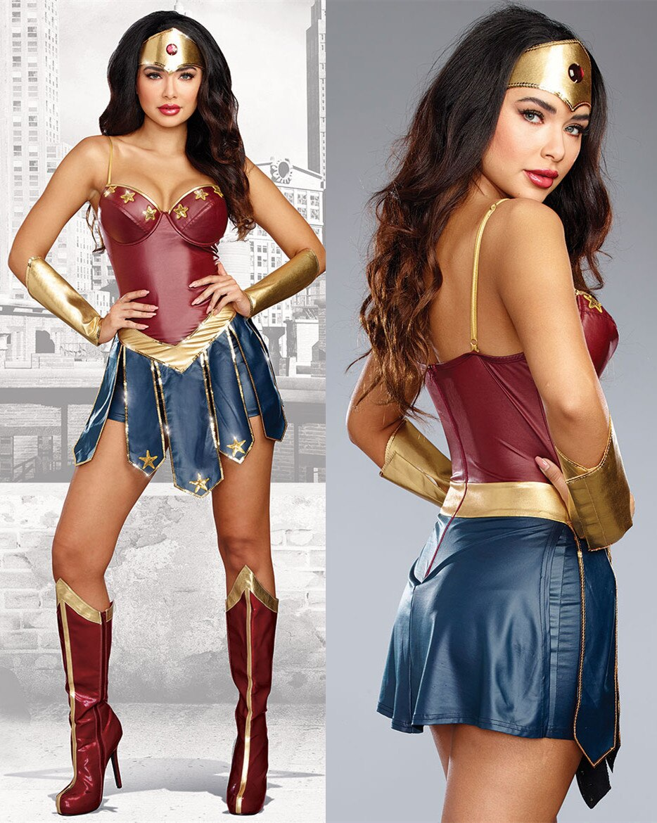 S-3XL New Adult Wonder Woman Costume Halloween Dawn Of Justice Fantasy Hero Super Girl Cosplay Costume