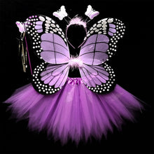 Mikumn Hot Sale Halloween Cosplay Fairy Angel Wings Insect Theme Costume For Kids Girl Butterfly Wings Costume Performance Dress