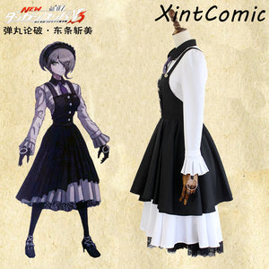 Danganronpa V3: Killing Harmony Kirumi Tojo Cosplay Costume Maid Dress Halloween Carnival Costumes Maid school uniform Dress