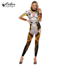 Color Cosplayer Game O.W Mercy Angela Ziegler Cosplay Costume Women Bodysuit Elastic Female Adult Purim Carnival Costume Catsuit