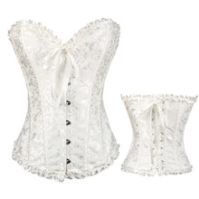 Cosplay Medieval Vintage Court Women's Lace Up Plus Size Overbust Corselet Corsets and Bustiers Sexy Lingerie Strapless Corset