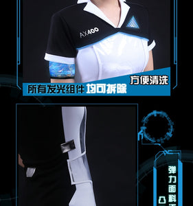Game Detroit: Become Human Connor RK800 Agent Suit KARA Cosplay Costume Code AX400 Agent Outfit Girls Cute Dress jacket full set