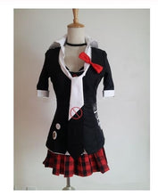 Danganronpa Cosplay Dangan Ronpa Junko Enoshima Emboitement Inushio Kimuchi Symbol Mark Sign Trigger Happy Havoc Cosplay Costume
