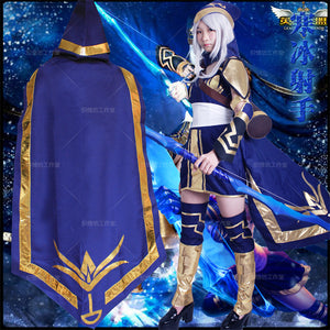 *Good quality* carnival costume League of New Legends lol Ashe costume  hallowmas Halloween cosplay costume 7-Pieces Set
