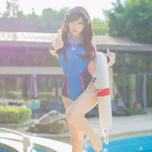 Sexy Game OW D.VA Cosplay Costume Summer One Piece Swimwear Swimsuit Jumpsuit SUKUMIZU S-L