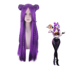 LOL KDA Kaisa Cosplay Costume Top Pants Gloves Outfit Full Set Game LOL K/DA Kaisa Synthetic Wigs Hair For Women Girls Halloween