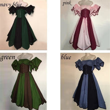 Cosplay Retro Medieval Women's Victorian Gothic Dress Renaissance Maiden off shoulder vintage Long Gown for party costume