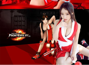 VEVEFHUANG Anime Game THE KING OF FIGHTERS Mai Shiranui Cosplay Sexy Clothes Full set Performance Cosplay for halloween costume