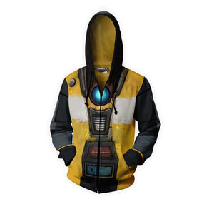 Men Fashion Game Borderlands 3 Cosplay Hoodies Halloween Party Costumes 3D Unisex Zipper Hooded Sweatshirts