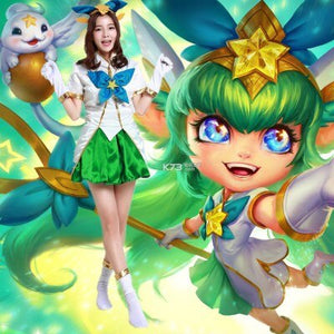 Game League of new Legends lol The Fae Sorceress Lulu costume  Women Clothes Hallowmas Halloween cute cosplay costume for women