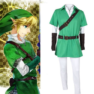 European size popular game cosplay Zelda legend Zelda link anime cosplay costume set