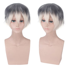 Anime Cosplay IDOLiSH7 Re:vale Headwear Wig Costumes Accessories Gray White Gradient Short Hair Halloween wig adult