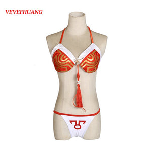 VEVEFHUANG Hot Game LOL Ahri Sexy bikini Uniforms The Nine-Tailed Fox Cosplay Costume For Halloween Carnival Free shipping.