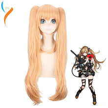 80cm Girls Frontline Ump45 UMP9 Cosplay Costume Wig Women Long Heat Resistant Synthetic Hair Wigs With Double Ponytails