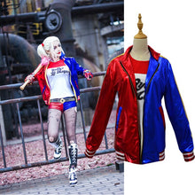 New Harley Quinn Cosplay Costumes Adult Men Women Purim Jackets Femme Jacket Callas Batman For Mujer Suit With Wig Gloves